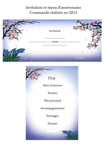 Invitation et menu